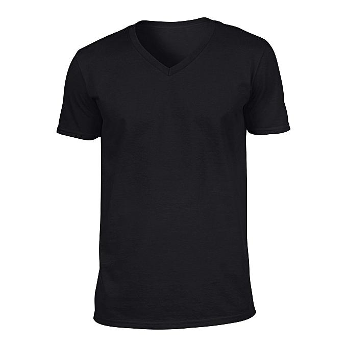 0d406208 Rukari Plain V-neck T-shirt - Black | Jumia NG