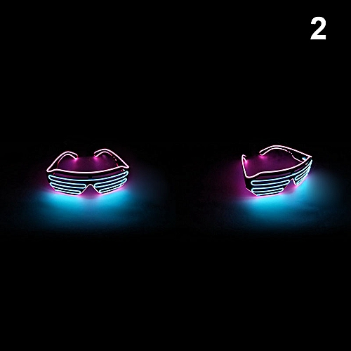 Double Color Flashing Glasses LED Light Goggles For Halloween Party Bar DC120