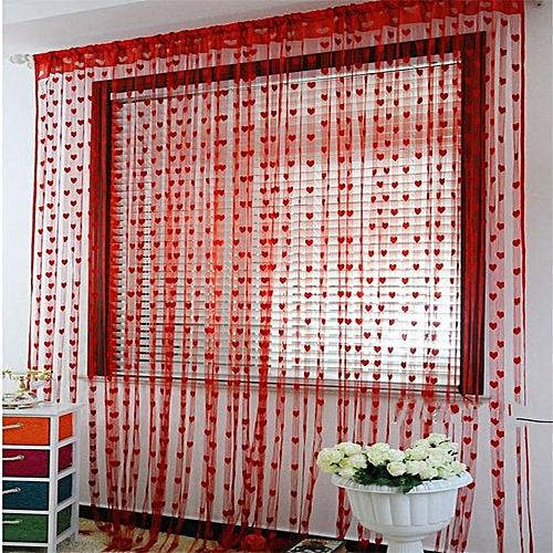 Cute Heart Line Tassel String Door Curtain Window Room Curtain Valance