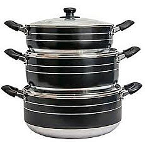 Non Stick Kitchen Cooking Pot Cookware With Glass Cover