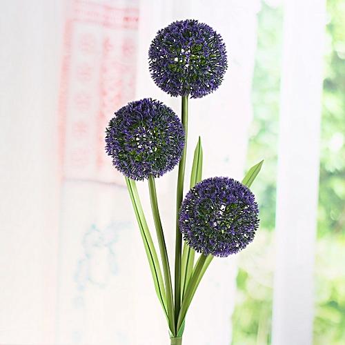 Solar Power Dandelion Flower LED Light Outdoor Garden Yard Lawn Landscape Lamp Purple Purple