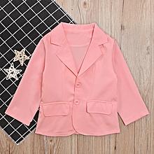 4362bb8630 Children  039 S Spring Fall Girl Pink Long Sleeve Suit Fashion Coat  Children