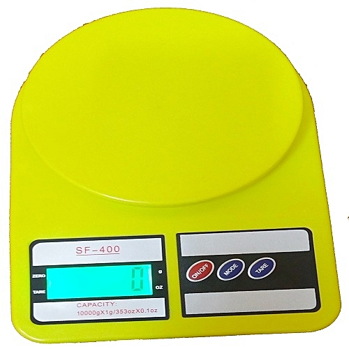 Electronic Kitchen Scale - LCD Color Display