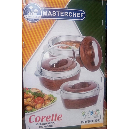 Corelle Insulated Hot Pot (Flask) - Set Of 3