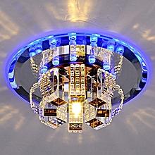 Modern Crystal Chandelier Round Ceiling Lamp For Bedroom, Bathroom, Dining Room(White Light