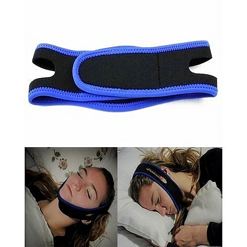 Anti Snore Chin Strap Belt - Blac