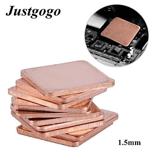 Heat Sink,10 Pcs 20 * 20mm Copper Sheet Shim Piece Heat Sink Thermal Pad For GPU CPU Laptop 1.5mm