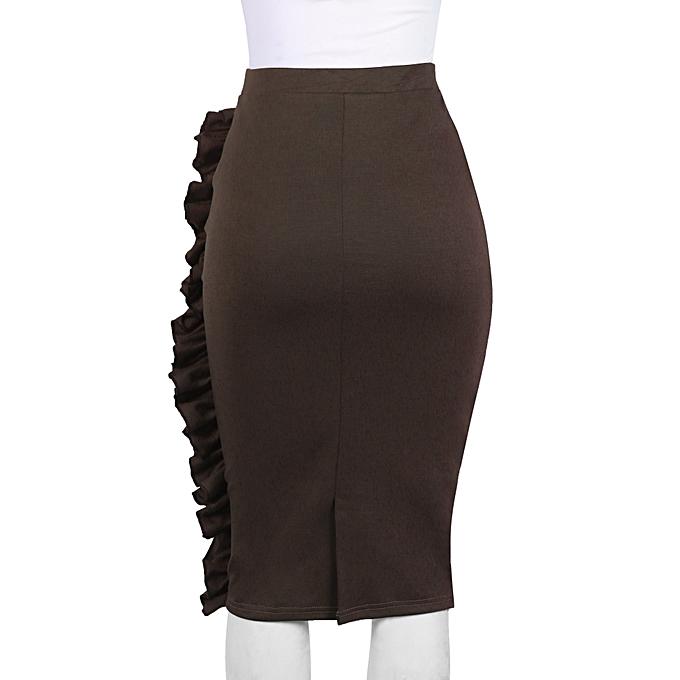 5c58153a67 Brown Ruffle Skirt Brown Ruffle Skirt Brown Ruffle Skirt