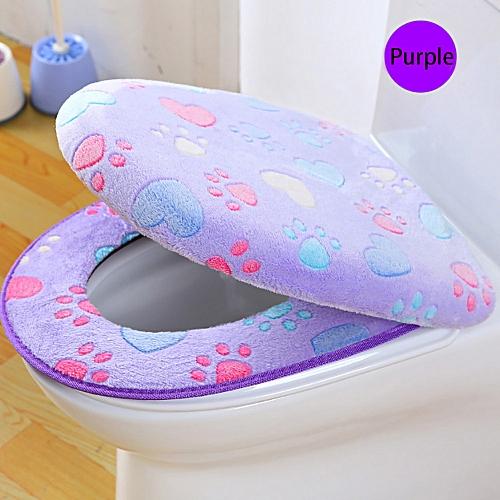 Fenhehu Coral Fleece 2 Piece Set Potty Toilet Cover Toilet Mat Comfortable Cushions PP