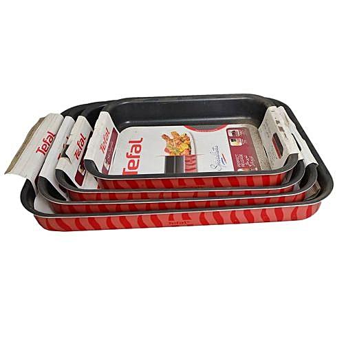 4 Sets Of Non Stick Baking Tray. 25x19, 31x24 ,37x27, 41x29cm