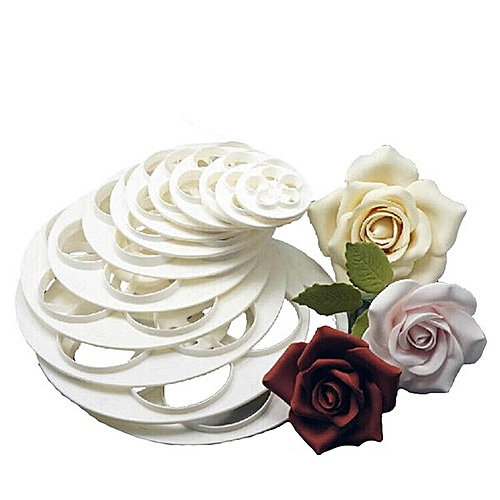 Fondant Cake Rose Flower Cookie Mould Gum Paste Cutter Tool 6Pcs