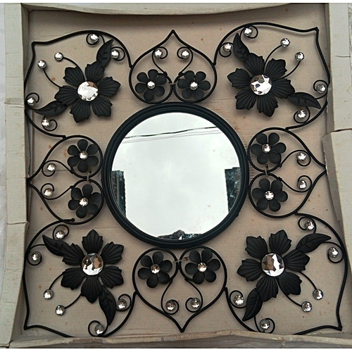 Floral Design Decorative Wall Mirror