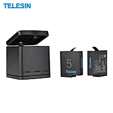 TELESIN Rechargeable Triple Charger Battery Charging Box Kit Battery Protective Storage Charging Box Case With 2