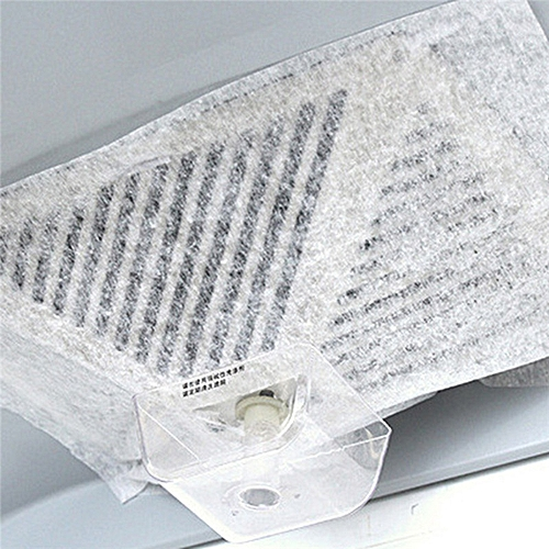 2pcs / Pack Universal Oil-absorbing Paper Non-woven Kitchen Hood Filter Anti Oil Cotton Hood Filters