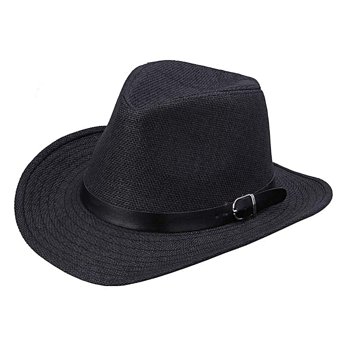 4f97bd253738d5 Fashion Summer Men Straw Hat Cowboy Hat BK | Jumia NG