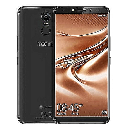 """Tecno Pouvoir 2 (LA7), 4G LTE, 16GB ROM/3GB RAM, Display 6.0"""", Android 8.1, Face ID Camera 13MP Rear Camera With Dual Flash/8MP Dual Camera With Flash, Battery 5000, Colour- Midnight Black"""