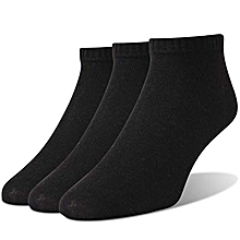 8ba46922a28 Men And Women Ankle Socks - 3 Pairs - Black