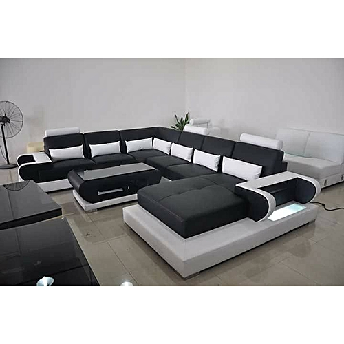 C-Shaped Monochrome Sectional Living Room Sofa