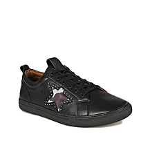 f14c156b282 Men  039 s Star-Studded Leather Sneakers