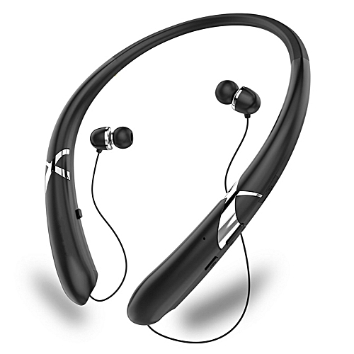 e9c2784c05b Generic Neckband Bluetooth Headsets Retractable Earbuds Stereo Bass Wireless  Headphones Sport Earphones Headset With HD Mic For Sports Running Fitness  ...