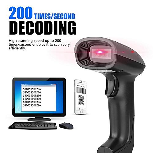 High Sensitivity Scanner QR Code Scanning 13mil 200 Times/Second Decoding USB QR Code Reader