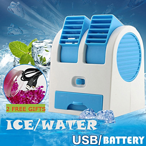 Portable Mini USB Air Conditioner Cooler Fan Rechargeable