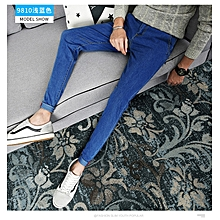 391a5d40 Young Men Fashion Casual Pencil Ankle Pants Jeans-9810