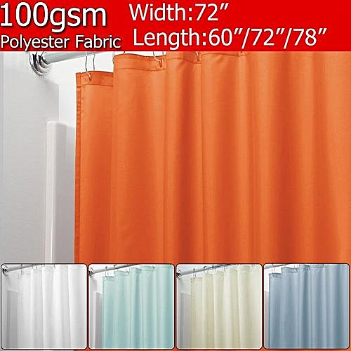 180x200cm Waterproof And Mildewproof Shower Curtain With 12 PCS C-type Hooks 100gsm