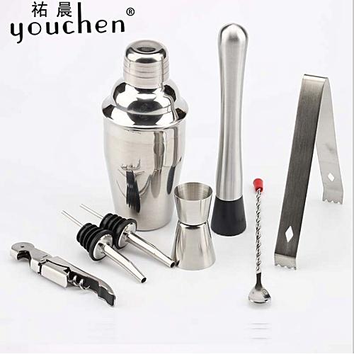 8Pcs Cocktail Maker Set Shaker Mixer Making Bar Spoon Muddler Tool 350/550/750ML