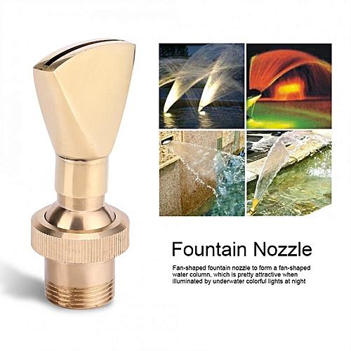 """1/2"""" DN15&3/4"""" DN20 Fan Shaped Brass Fountain Nozzle Sprinkler Spray Head"""