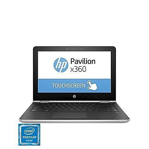"Pavilion X360 11.6"" Touchscreen Convertible Laptop-Silver (Intel Pentium Quad Core N4200 - 500GB HDD - 4GB RAM) Natural Silver"