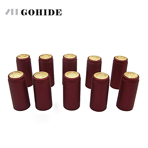 GOHIDE 10pcs/lot PVC Heat Shrink Cap High Quality Home Brewing Wine Bottle Cover Import Row Material Bottle Seal Bar Accessories