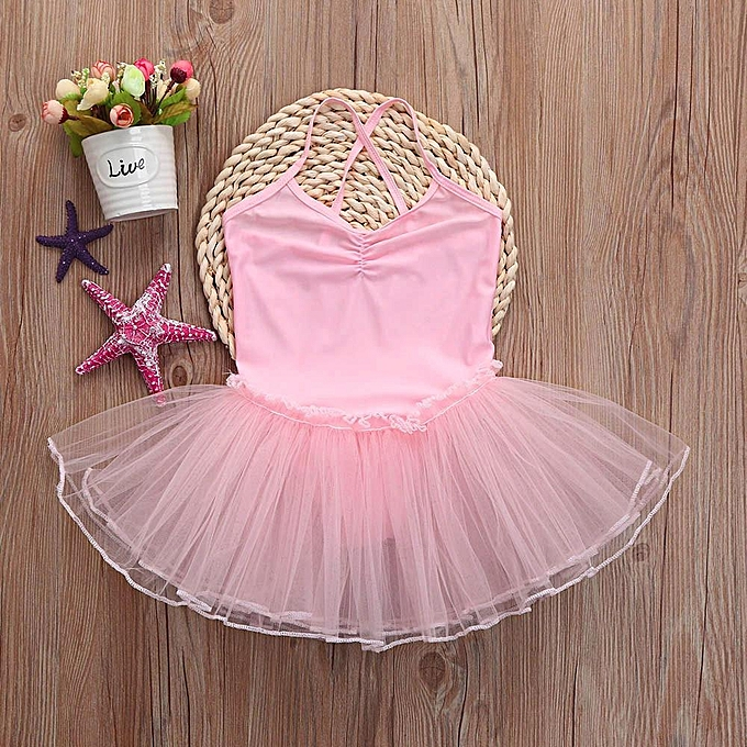 8d1b29fd8531 Toddler Baby Girl Ballet Princess Dress Tutu Leotard Dance Gymnastics Strap  Clothes Outfits Musiccool