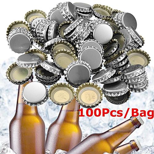 100Pcs/Bag Beer Bottle Caps PE Lined Soda Crown Cap Unused (No Dents)