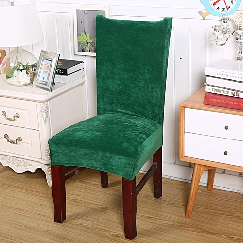 Stretch Fox Pile Fabric Kitchen Wedding Banquet Chair Seat Slipcover Home Decor