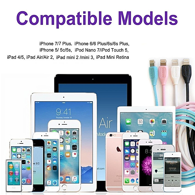 585e4b510b7 Remax Apple IPhone Charger, REMAX Lesu 4Pack(Blue/Pink/White/Black ...