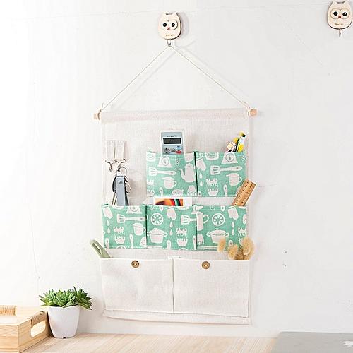 Pocket Storage Hanging Bag With Hooks Door Wall Organizer