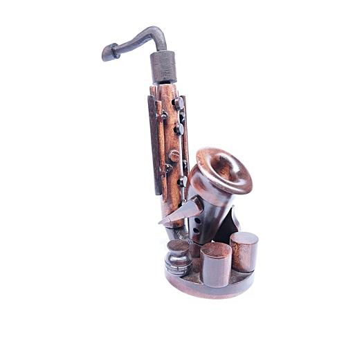 "African Art Work ,12"" Height Saxophone Ebony Sculpture"