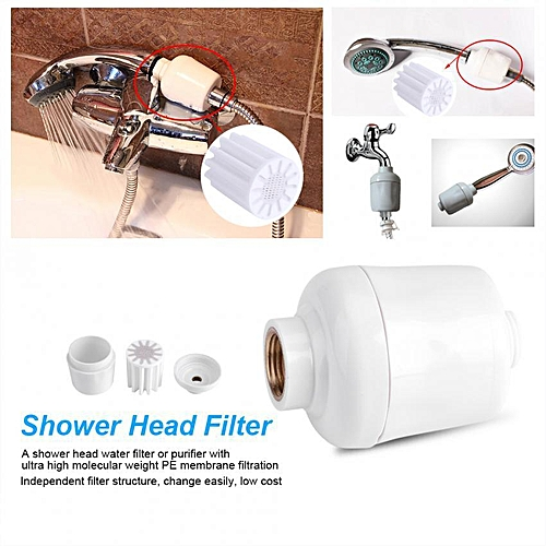 Removable Bathroom Shower Head In-Line Faucet Filter Purifier Softener Clean Water