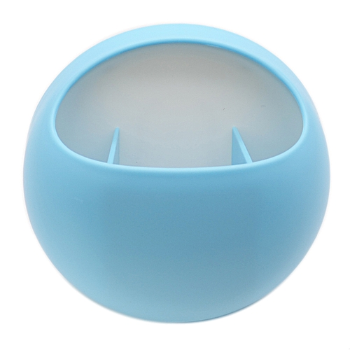 Wall Mounted Round Toothbrush Holder - Blue