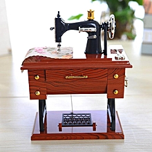 KiWarm Sewing Machine Shape Music Box Plastic Musical Case Drawer For Elise Melody Home Decoration Birthday Gifts Ornament for sale  Nigeria