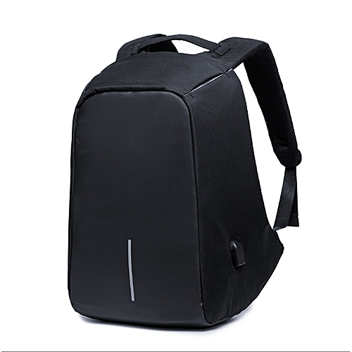 Anti-theft Travel Backpack Business Laptop Book School Bag With USB Charging Port For College Student Work Men & Women - Black