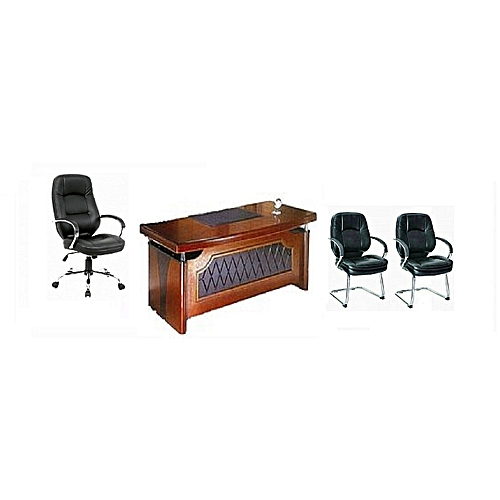 Directors Office Table And Chair And 2visitor's Chairs (Delivery Within Lagos, Agbara And Sango Ota Only)
