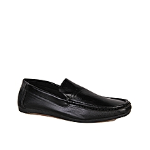 Plain Smart Loafers - Black