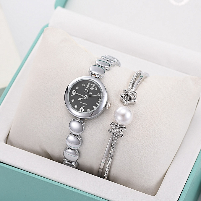 e8437c6d3779 Light Luxury Girl Temperament Watch Bracelet Set Chain Watch Birthday Gift