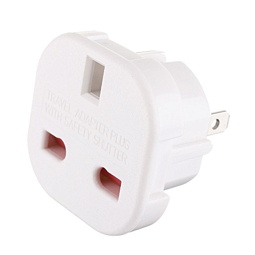 Fashion Universal 240V 3 Pins Plug UK To USA US Australia  Zealand Adapter Converter Travelling White