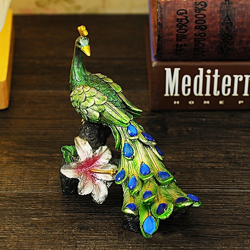 Resin Peacock Crafts Decoration