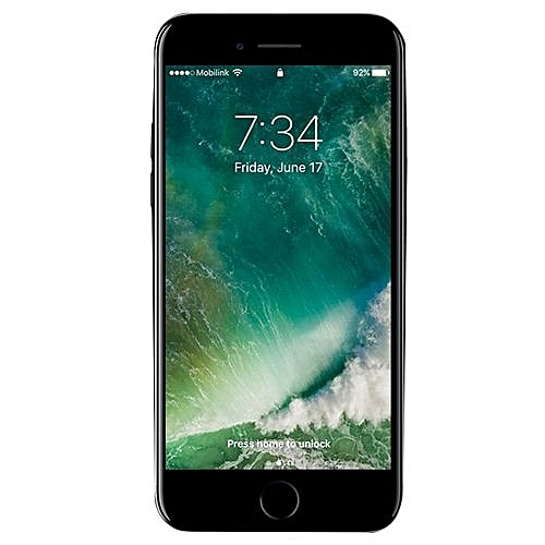 Iphone 7 Plus 128gb Black, With Standard Back Case, And Thick Sensitive 3D Tempered Glass Screen Protector