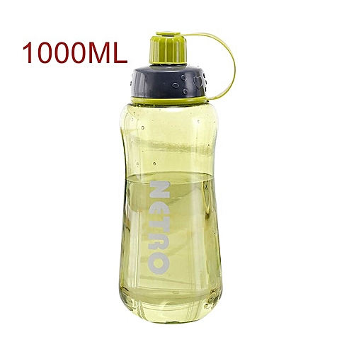 800/1000/1500ML Portable Sports Students Water Bottle Plastic Outdoor Green