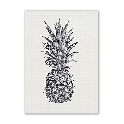 W196 Pineapple Unframed Wall Art Canvas Prints For Home Decoration